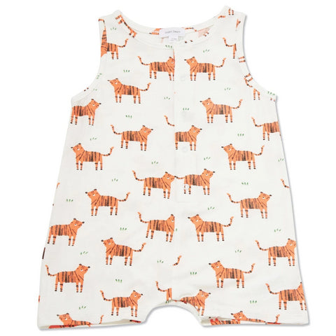 Angel Dear Sleeveless Romper Tigers