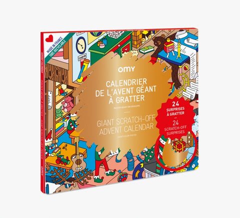 OMY Giant Scratch Off Advent Calendar