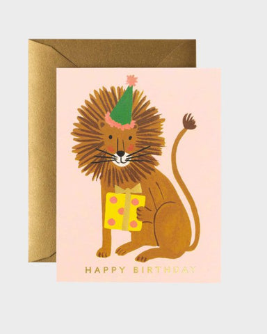 Rifle Paper Company Lion Birthday Card
