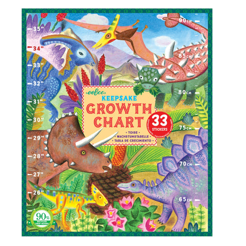 Eeboo Growth Chart - Dinosaurs