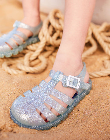 Joules Jelly Shoes Silver Glitter