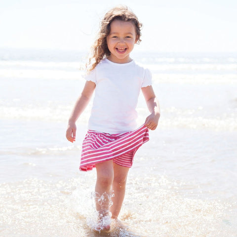 JoJo Maman Skirt with Shorts Pink Stripe