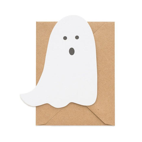 Sugar Paper Halloween Letterpress Ghost Card with Envelope