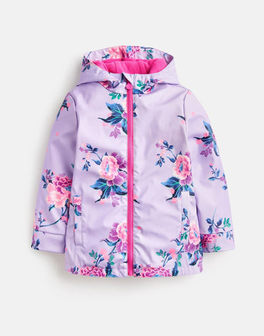 Joules Rain Coat Purple Floral