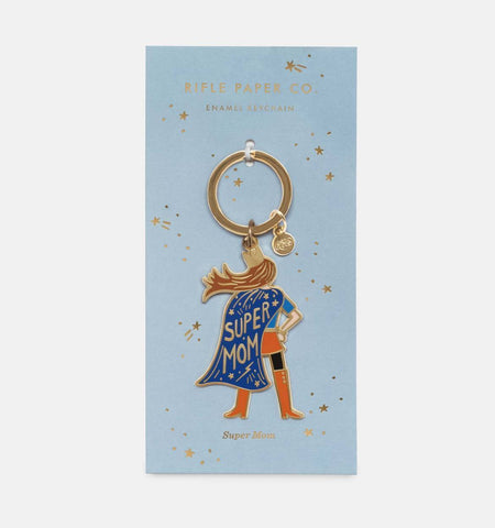 Rifle Paper Co Super Mom Keychain