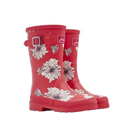 Joules Rain Boots Red Floral