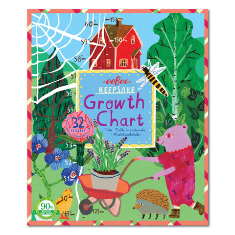 Eeboo Growth Chart - Garden