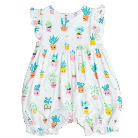 Angel Dear Ruffle Bib Romper House Plants
