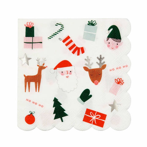 MeriMeri Christmas Fun Napkins