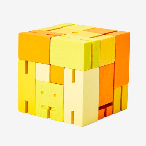 Cubebot Areaware Yellow Multi Micro Small