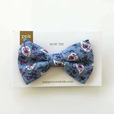 Peppercorn Kids Bow Tie Blue Purple Floral