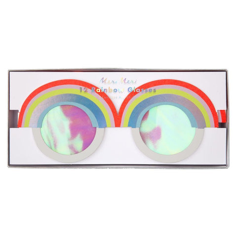 MeriMeri 12 Rainbow Party Paper Glasses