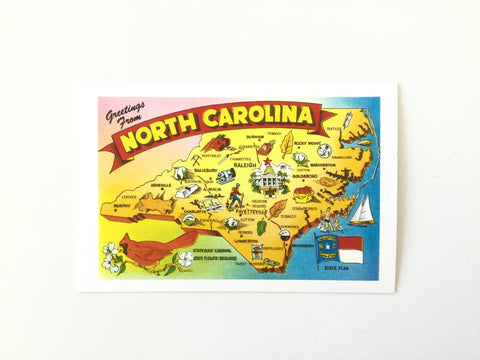Postcard Individual Greetings from North Carolina