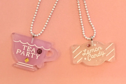 Pop Cutie Necklace 2 Piece Tea Party Friends Set