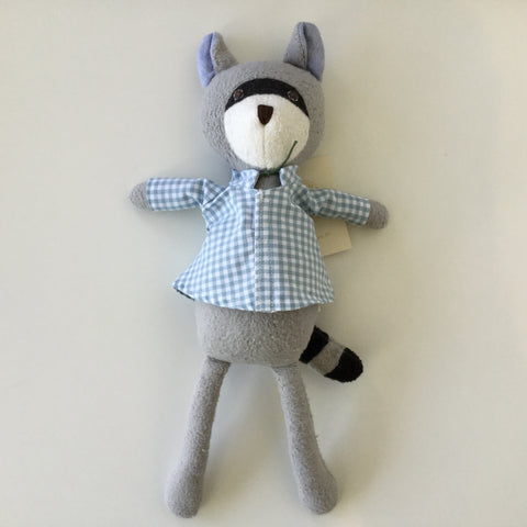 Hazel Village Doll Max Raccoon Blue Gingham Shirt