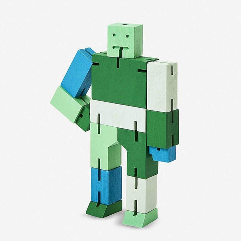 Cubebot Areaware Green Multi Micro Small