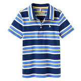 Joules Polo Shirt Navy Yellow White Stripe