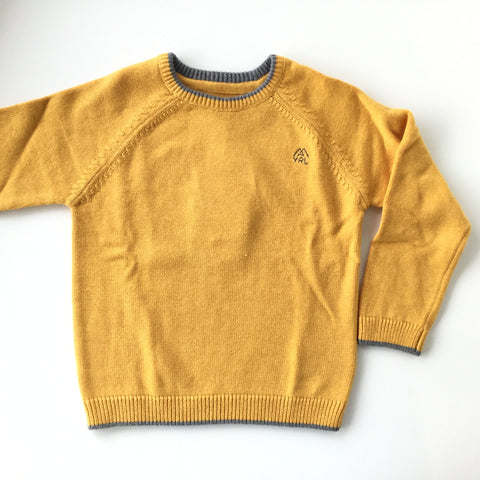 Mayoral Pullover Sweater Yellow Grey