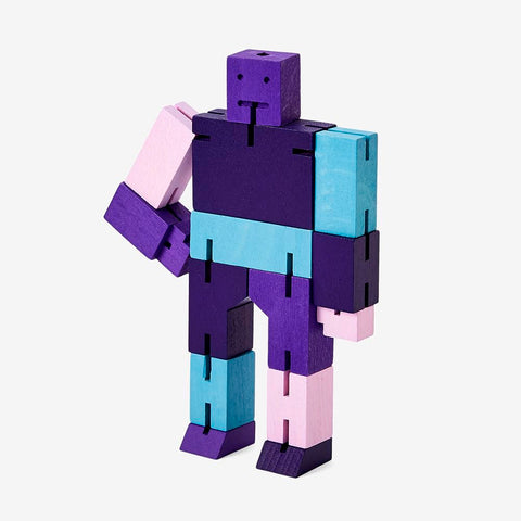 Cubebot Areaware Purple Multi Micro Small