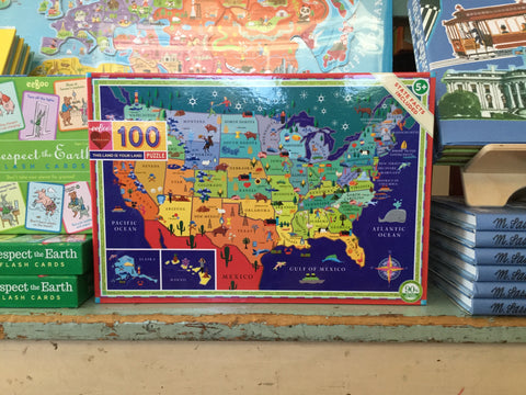 Eeboo Puzzle 100 Piece This Land is Your Land