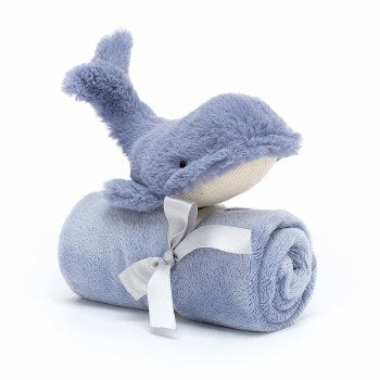 Jellycat Wilbur Whale Soother Lovey
