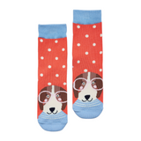 Joules Socks 1 Pair Pink Spot Dog