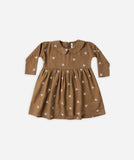 Rylee and Cru Dress Embroidered Berry Brown