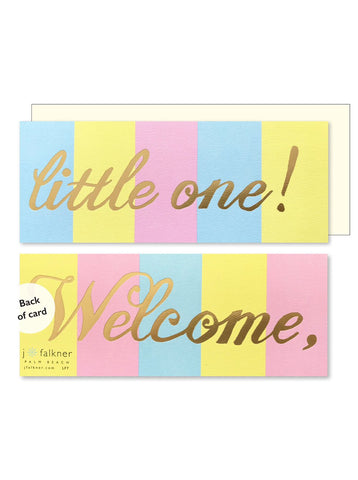 J Falkner Card - Welcome Little One Long Format
