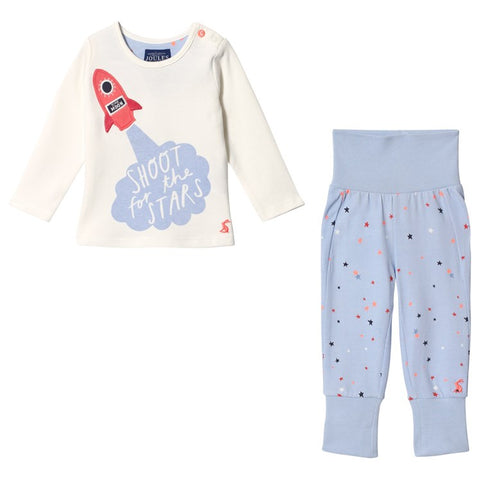 Joules 2 Piece PJs Pants Set Shoot For The Stars