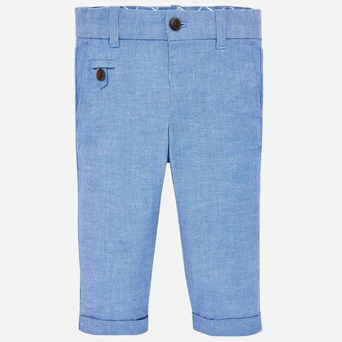 Mayoral Dressy Pants Chambray Blue