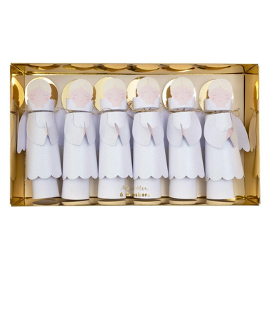 MeriMeri Angel Christmas Crackers Set of 6