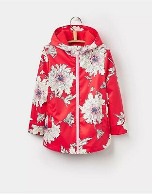 Joules Rain Coat Red Floral