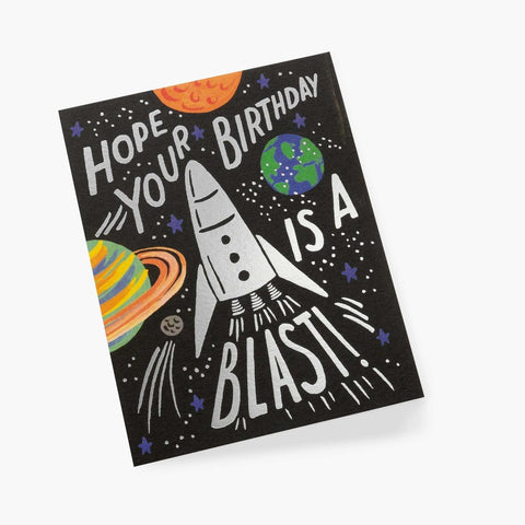 Rifle Paper Company Rocket Birthday Card