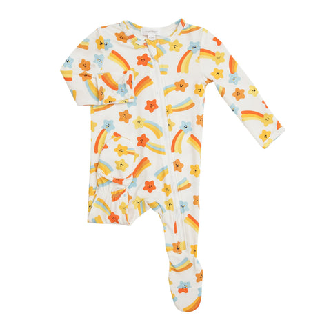 Angel Dear Shooting Stars Zipper Footie