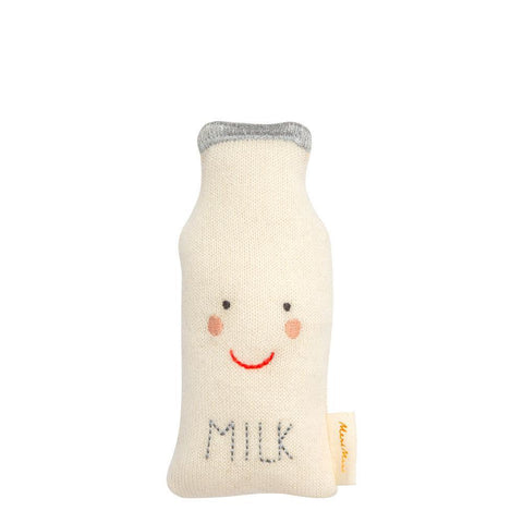 MeriMeri Milk Bottle Baby Soft Rattle Doll