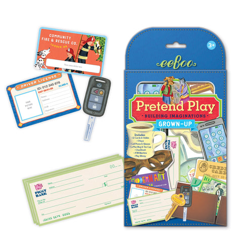 Eeboo Pretend Play Grown Up Play Set