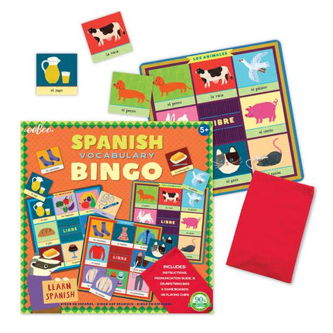 Eeboo Spanish Vocabulary Bingo (2nd Edition)