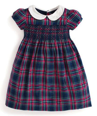 Jojo Maman Smocked Tartan Party Dress
