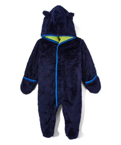Magnetic Me Snowsuit Bunting Fuzzy Navy Blue