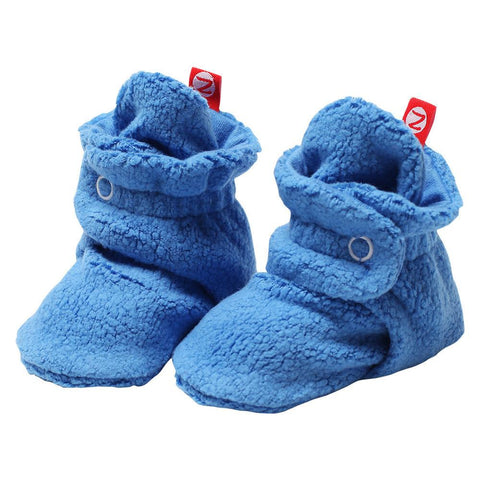 Zutano Booties Blue Fleece
