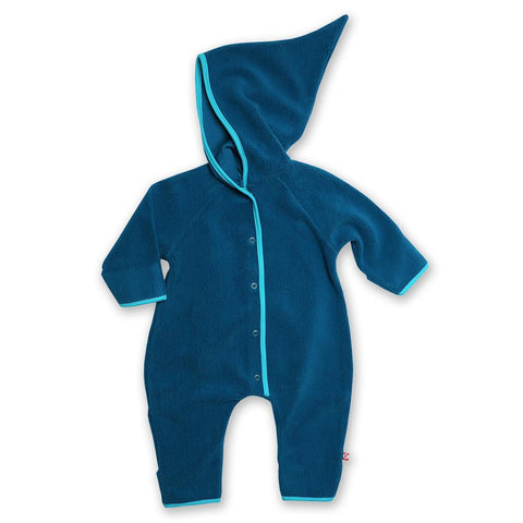 Zutano Fleece Elf Romper Blue
