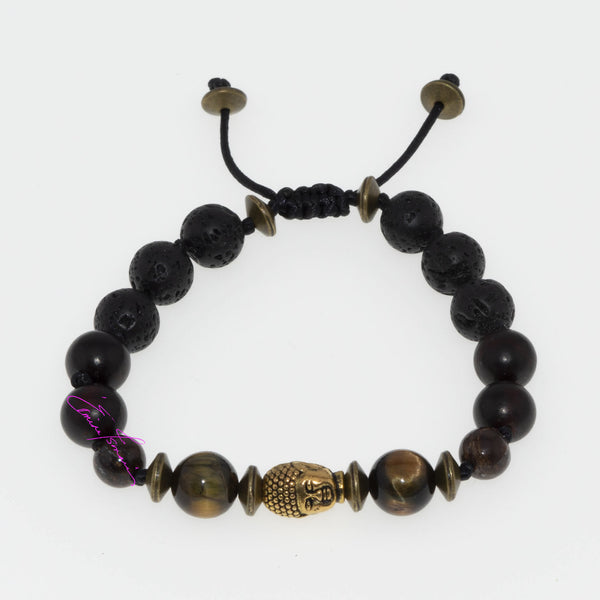 Tigers Eye Onyx & Bronzite with Budhha-2