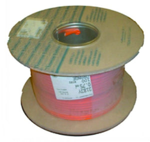 1.5mm 3 Core 100 Metre Cable Reel - Orange - FLX34