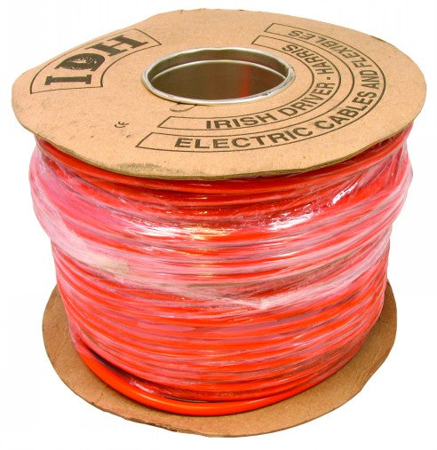 1.0mm 2 Core 100 Metre Cable Reel - Orange - FLX36