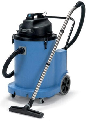 front view of the blue vacuum cleaner
