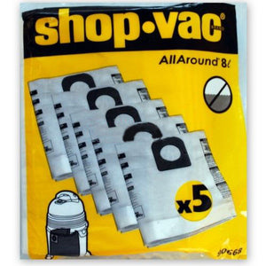 Shopvac 10L Paper Dust Bags - pack 5