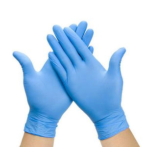 Nitrile  gloves - blue - box of 100 - IN STOCK