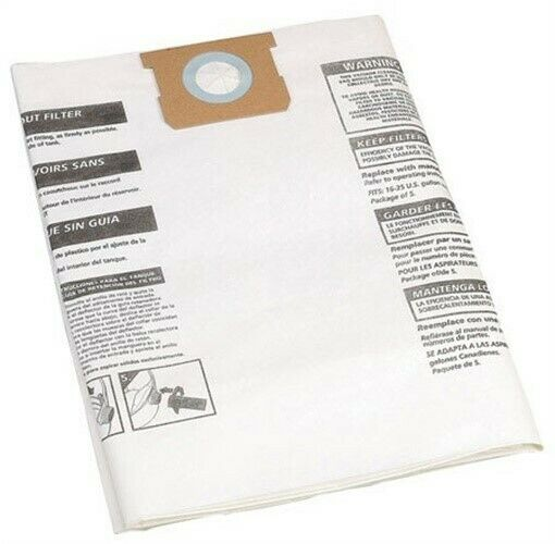 Shopvac 60/80L Paper Dust Bags - pack 5