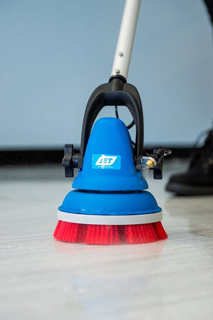 "MotorScrubber JET 8"" Battery Scrubbing Cleaning Machine with pump"