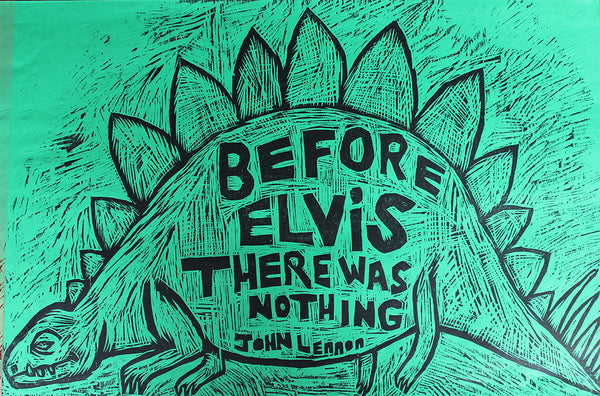 Before Elvis Woodcut